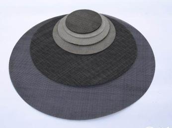 黑丝布圆片